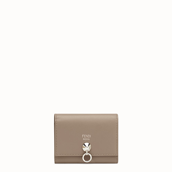 FENDI CARD HOLDER - Beige leather gusseted card holder - view 1 small thumbnail