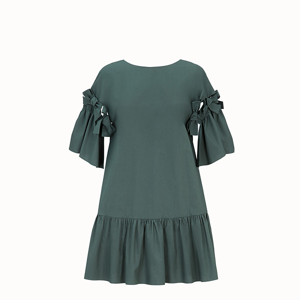 FENDI ROBE - Robe en coton vert - view 1 small thumbnail