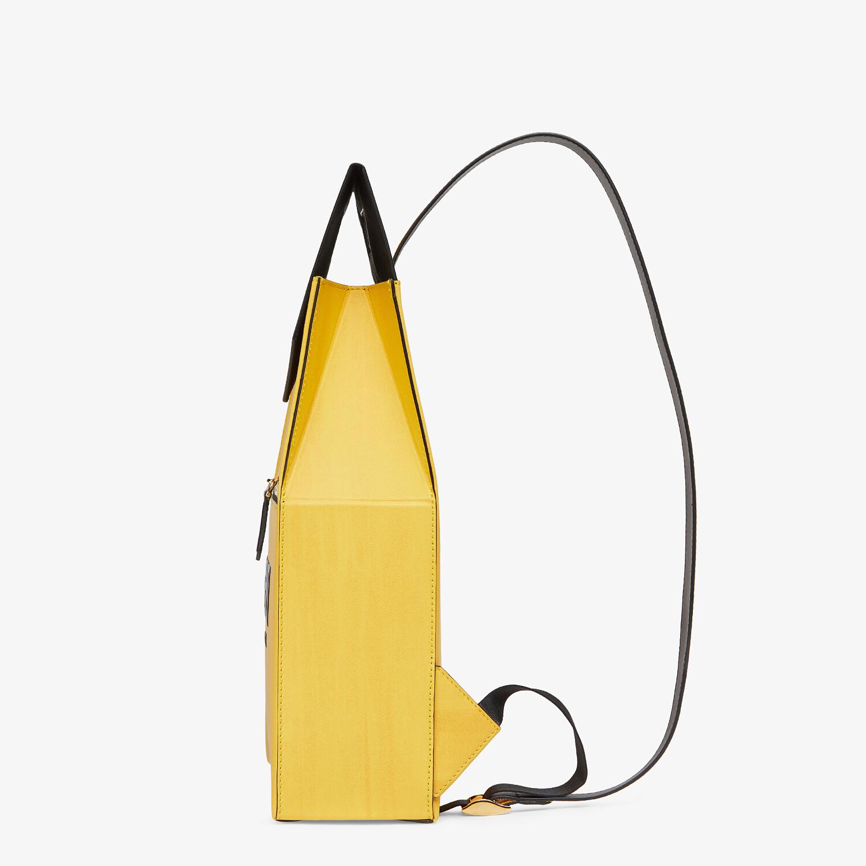 FENDI FENDI PACK BACKPACK - Yellow leather backpack - view 2 detail
