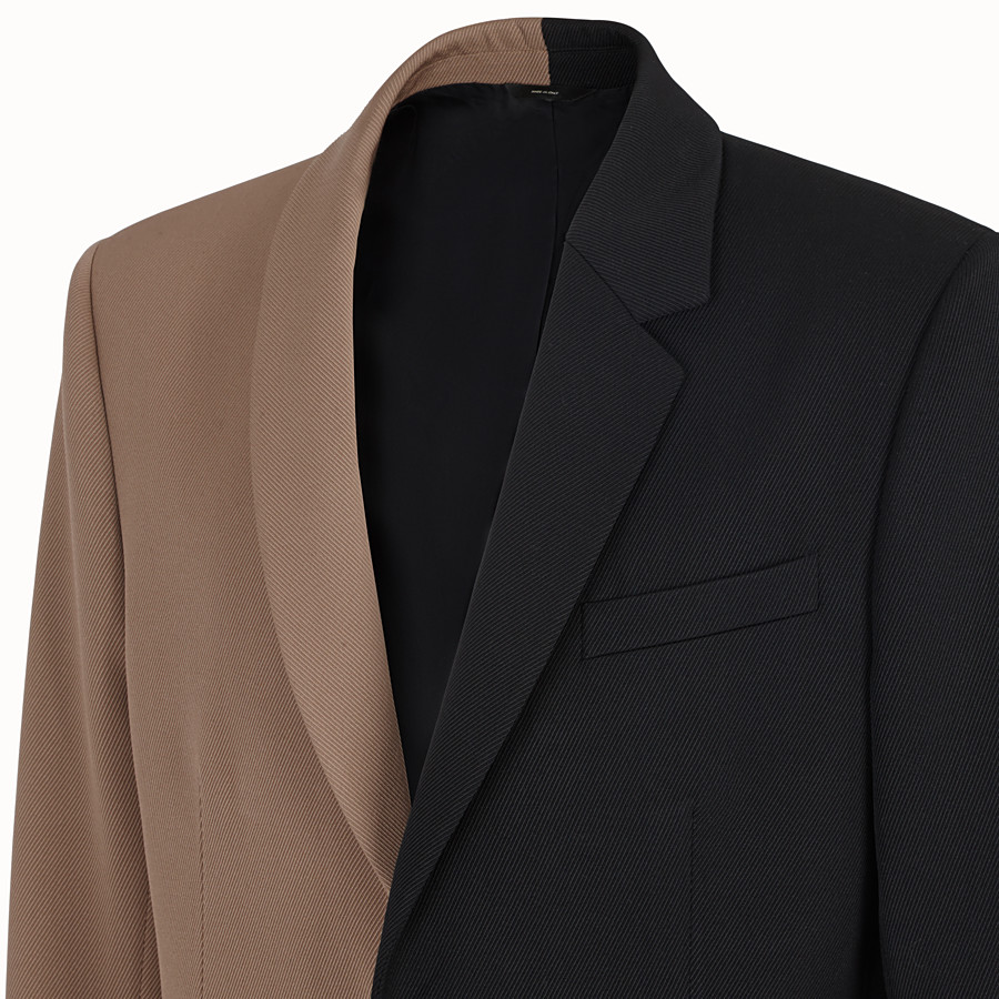 FENDI JACKET - Black gabardine blazer - view 4 detail