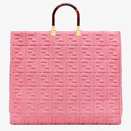 FENDI SUNSHINE SHOPPER - Shopper aus Frottee in Rosa - view 4 thumbnail