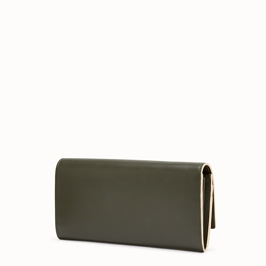 FENDI PEEKABOO CONTINENTAL WALLET - Green leather continental wallet - view 2 detail