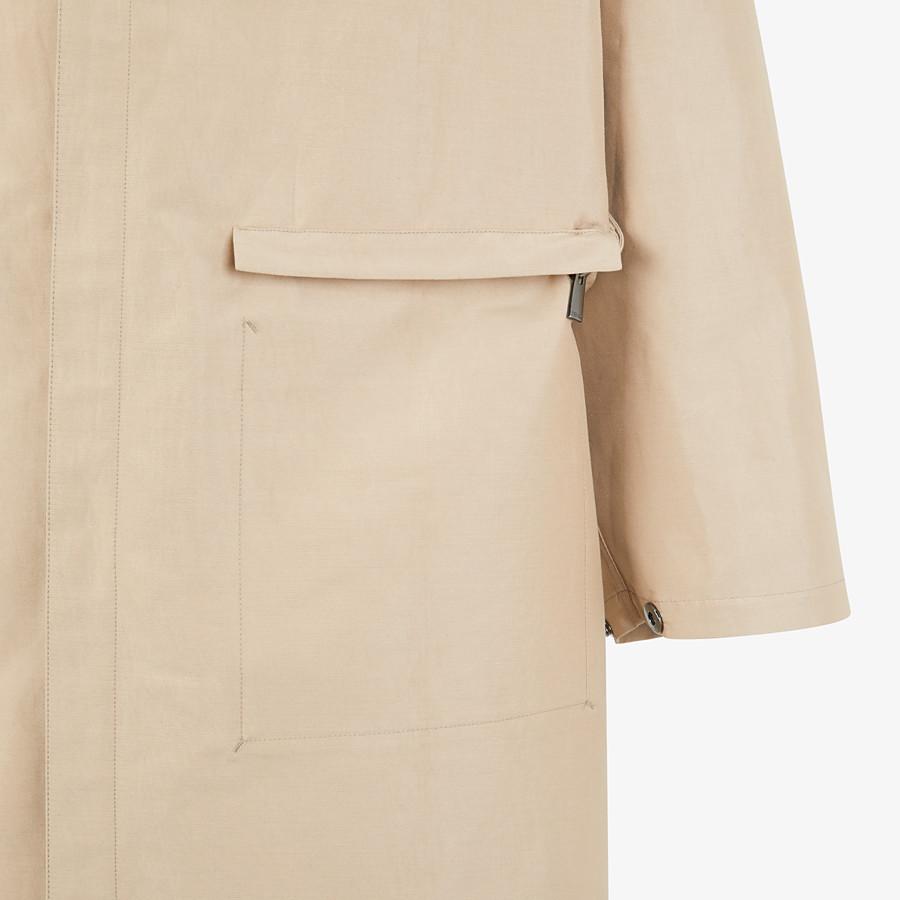FENDI PARKA - Beige cotton overcoat - view 4 detail