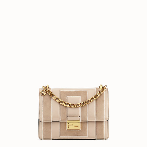 FENDI KAN U - Beige suede and leather bag - view 1 small thumbnail