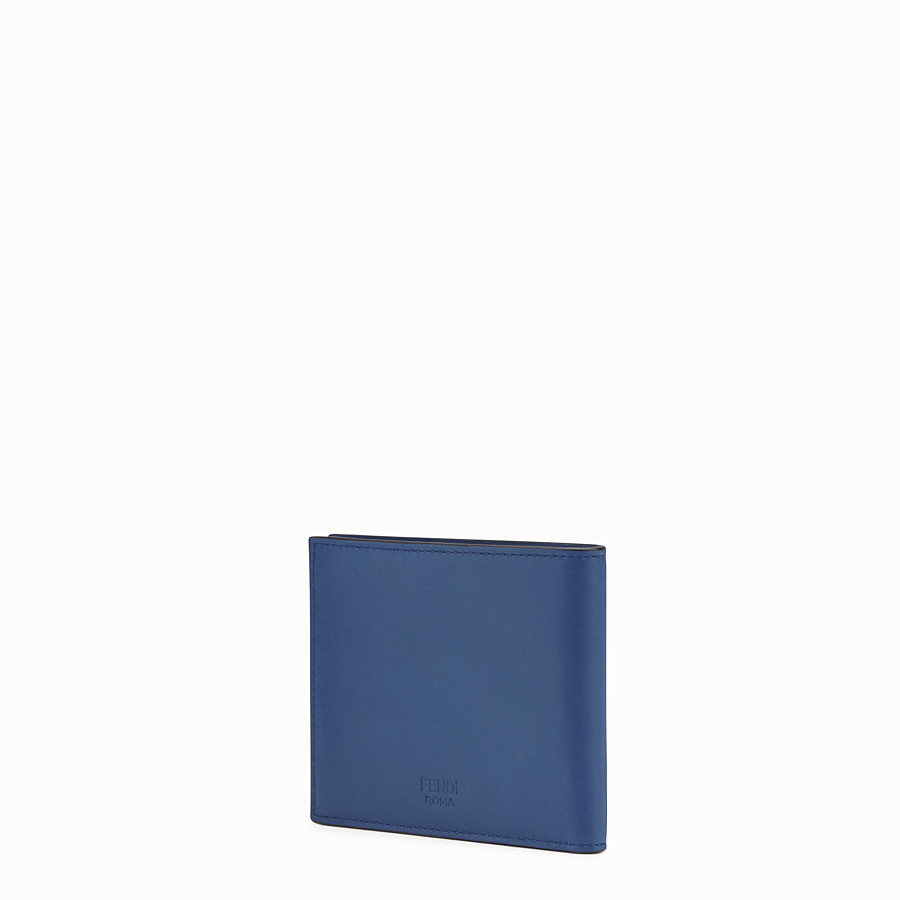 FENDI WALLET - Blue-leather bi-fold wallet - view 2 detail