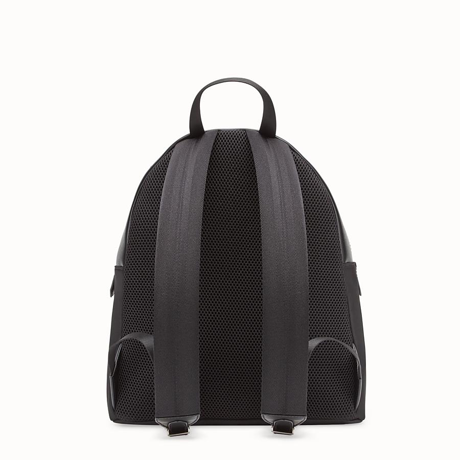 FENDI 백팩 - 블랙 컬러의 패브릭과 가죽 백팩 - view 3 detail