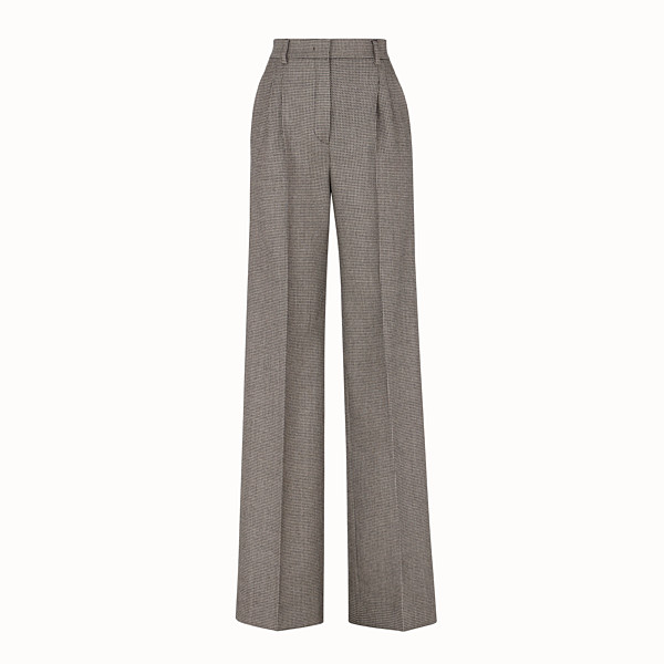 FENDI TROUSERS - Brown wool trousers - view 1 small thumbnail