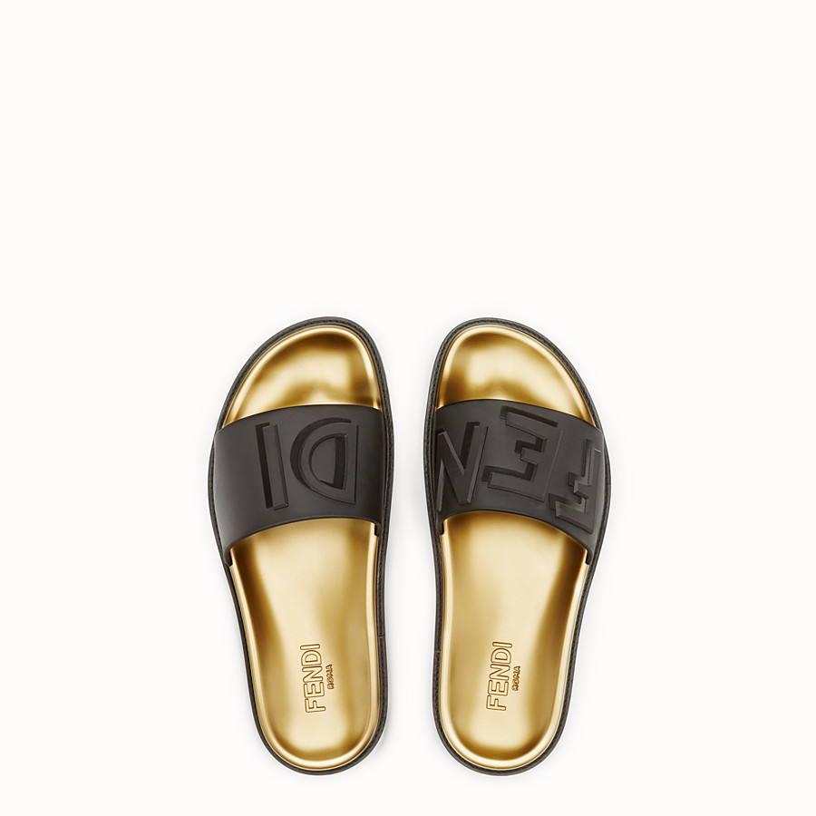 FENDI SLIDES - Black TPU fussbetts - view 4 detail