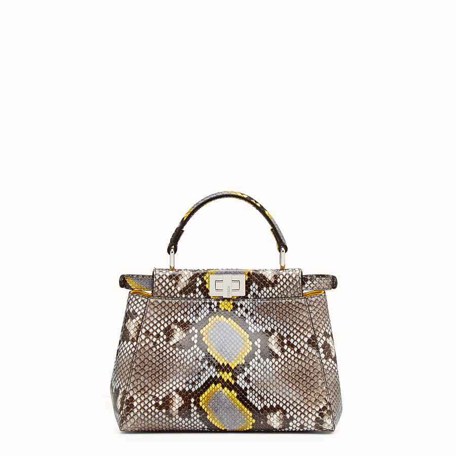 FENDI PEEKABOO MINI - multicolour python handbag - view 3 detail