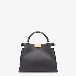 FENDI PEEKABOO ICONIC ESSENTIALLY - Black leather bag - view 4 thumbnail
