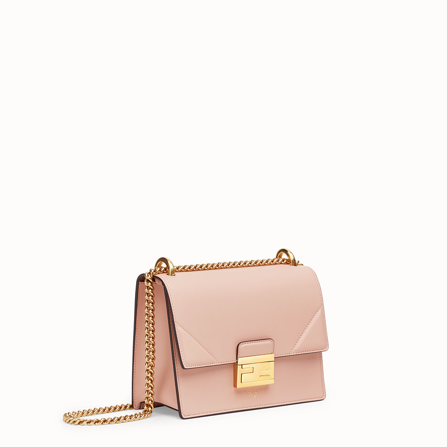FENDI 小型款式 KAN U - 粉紅色皮革迷你手袋 - view 3 detail