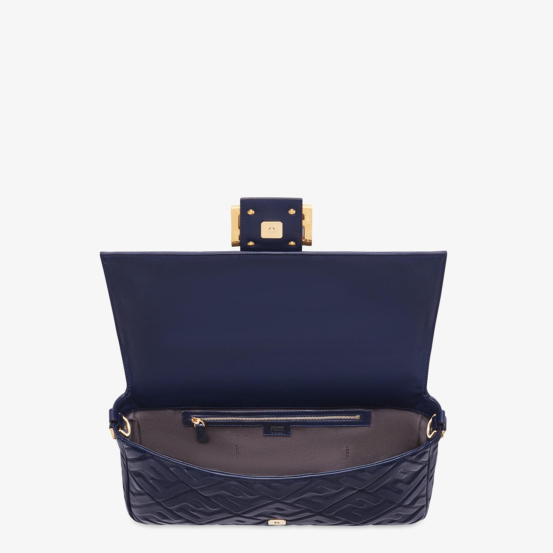 FENDI BAGUETTE LARGE - Blue nappa leather bag - view 4 detail