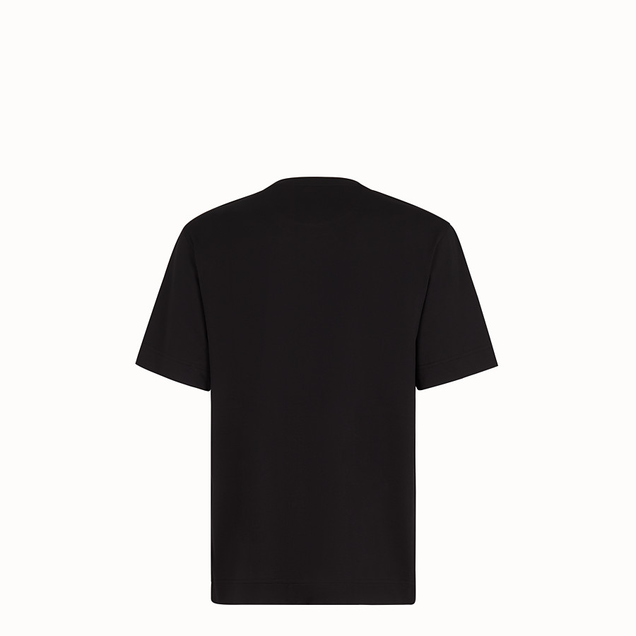 FENDI T-SHIRT - Black fabric T-shirt - view 2 detail
