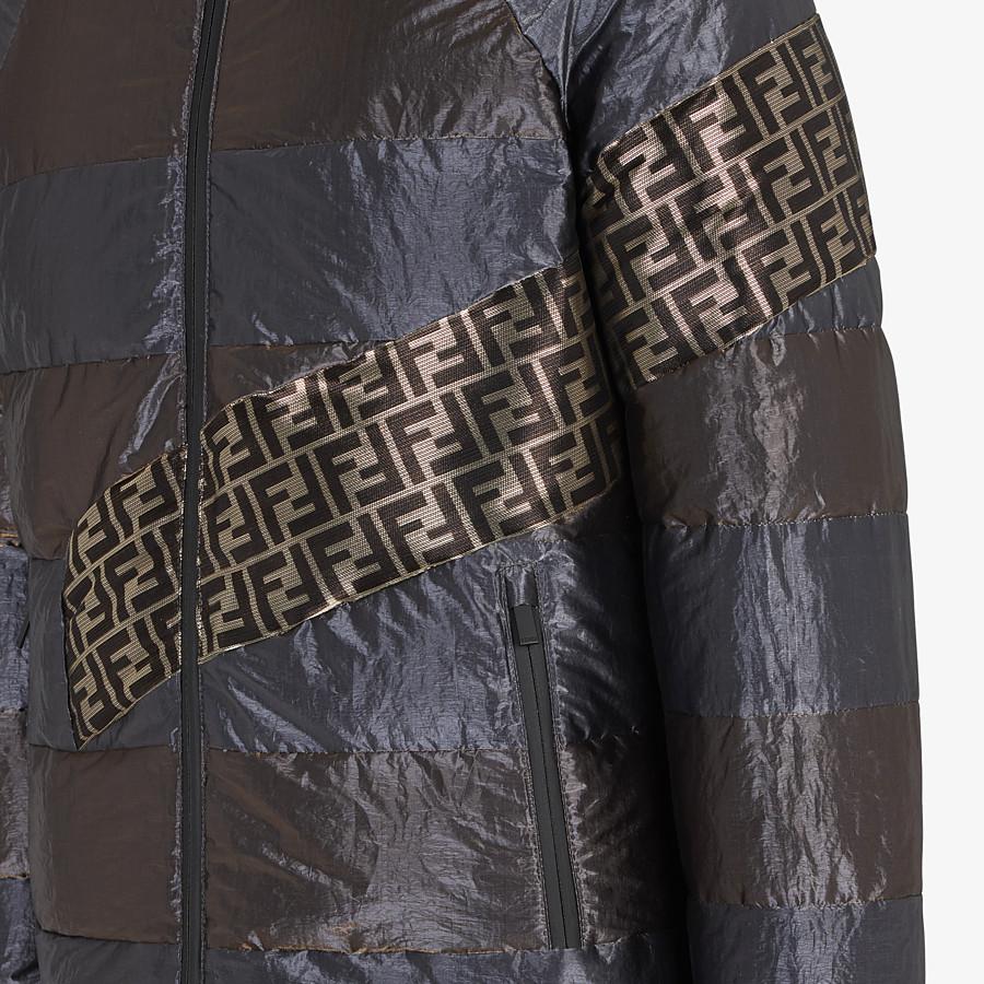 FENDI DOWN JACKET - Metallic tech fabric padded jacket - view 3 detail