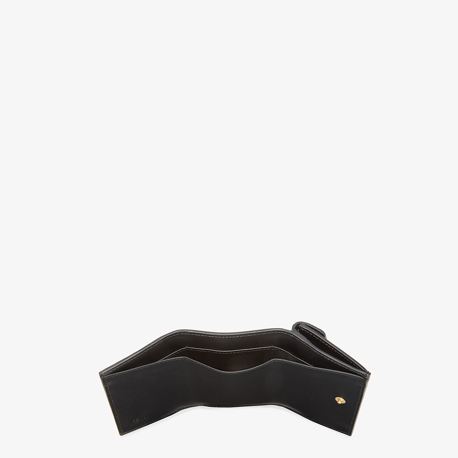FENDI MICRO TRIFOLD - Black leather wallet - view 5 detail