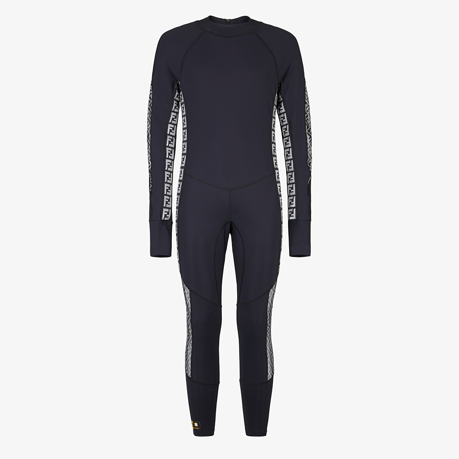 FENDI JUMPSUIT - Black stretch fabric running tracksuit - view 1 detail
