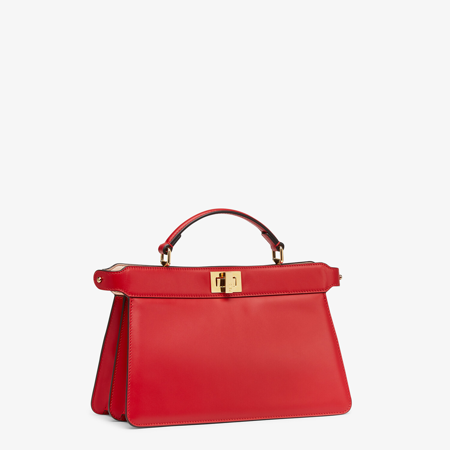 FENDI PEEKABOO ISEEU EAST-WEST - Red leather bag - view 3 detail