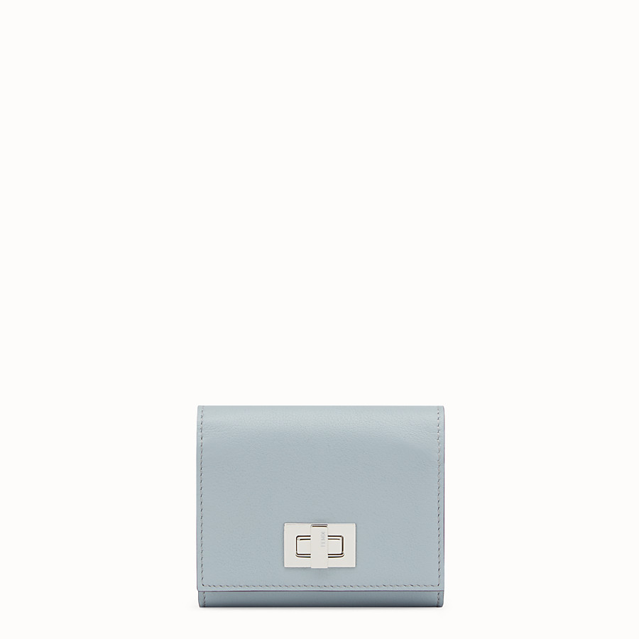 FENDI PEEKABOO CARD HOLDER - in grey and red leather - view 1 detail