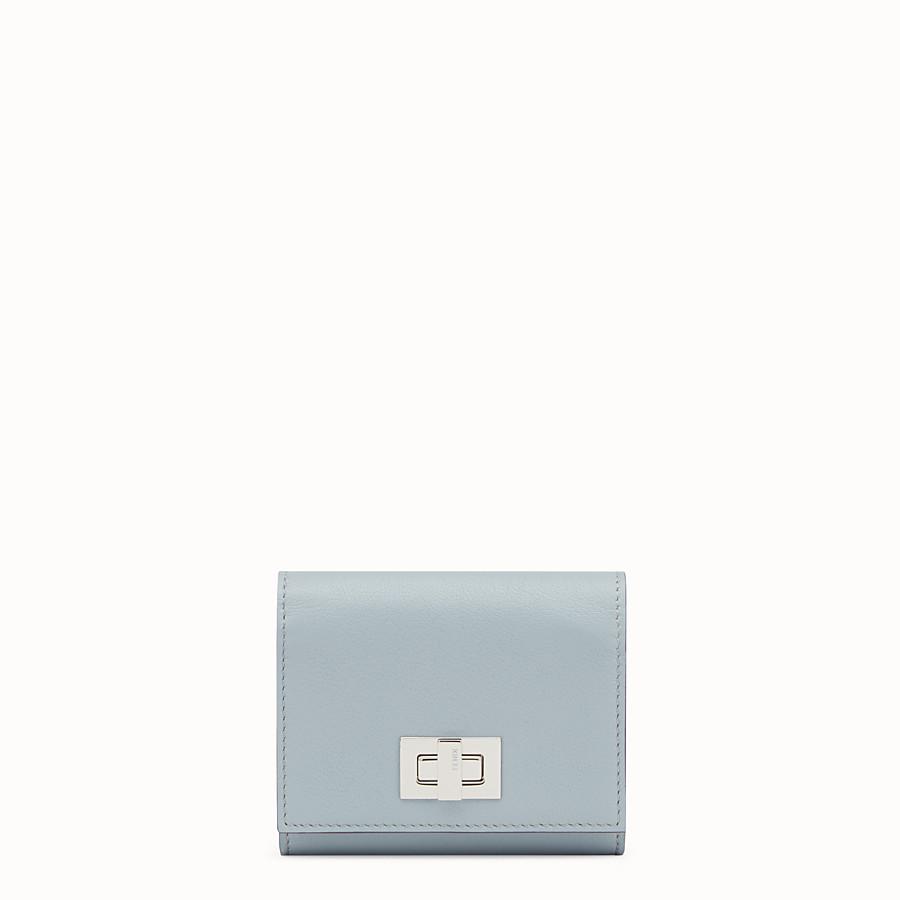 FENDI 피카부 지갑 - 그레이 및 레드 컬러의 가죽 소재 - view 1 detail
