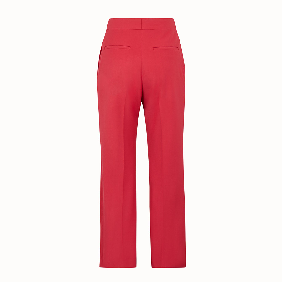 FENDI TROUSERS - Red wool trousers - view 2 detail