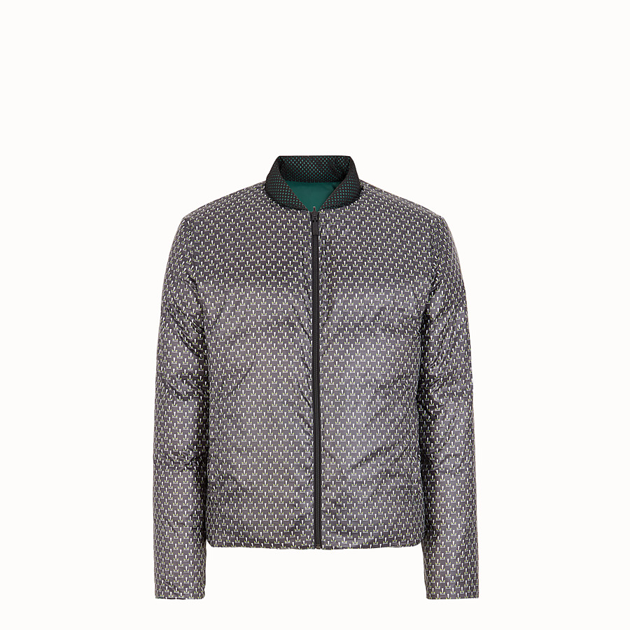 FENDI DOWN JACKET - Multicolor nylon down jacket - view 4 detail