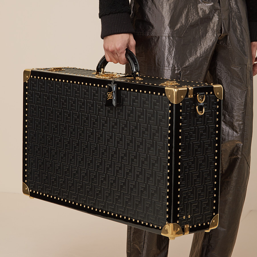 FENDI RIGID SUITCASE LARGE - Black leather suitcase - view 6 detail