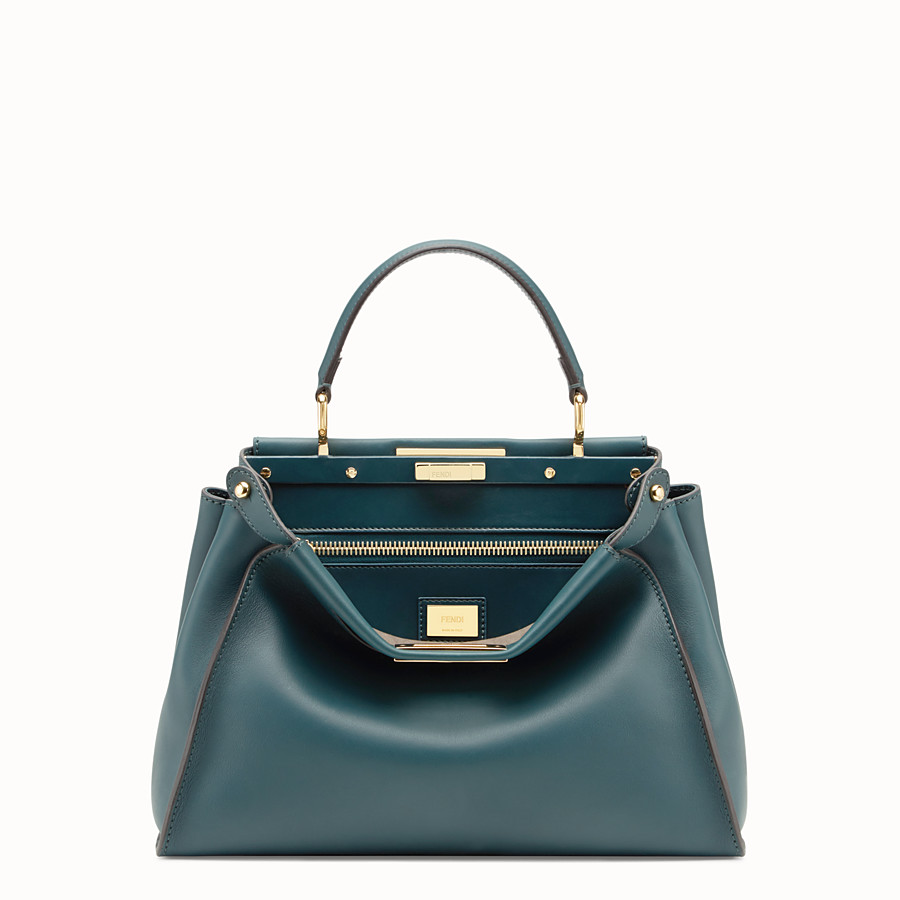 FENDI PEEKABOO REGULAR - Bolso de piel verde - view 1 detail