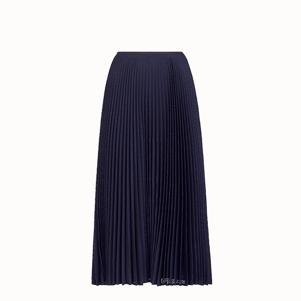 FENDI SKIRT - Blue mohair skirt - view 1 small thumbnail