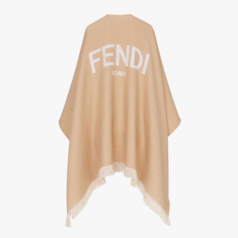 FENDI PONCHO - Beige wool poncho - view 2 detail
