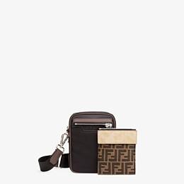 FENDI MESSENGER - Black nylon bag - view 2 thumbnail