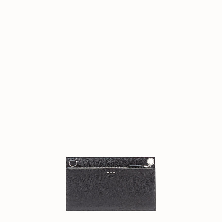 FENDI FLAT POUCH - Black leather bag - view 3 detail