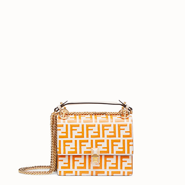 FENDI KAN I SMALL - White leather mini-bag - view 1 small thumbnail