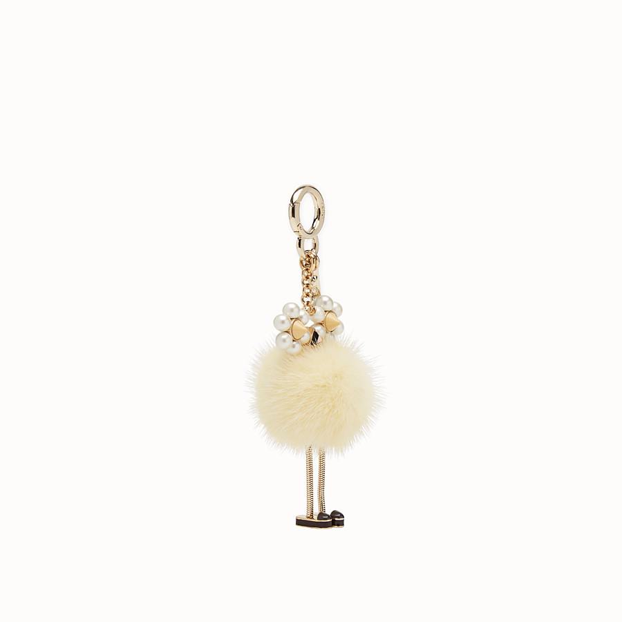 FENDI CHICK CHARM - Yellow fur charm - view 1 detail