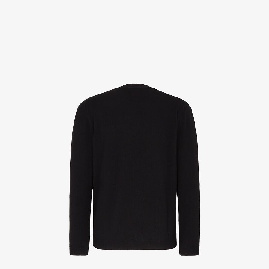 FENDI SWEATER - Black cashmere sweater - view 2 detail