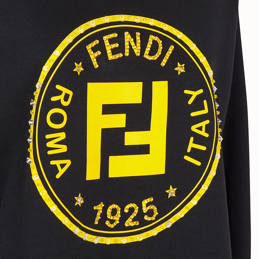 FENDI SWEATSHIRT - Black cotton sweatshirt - view 3 detail