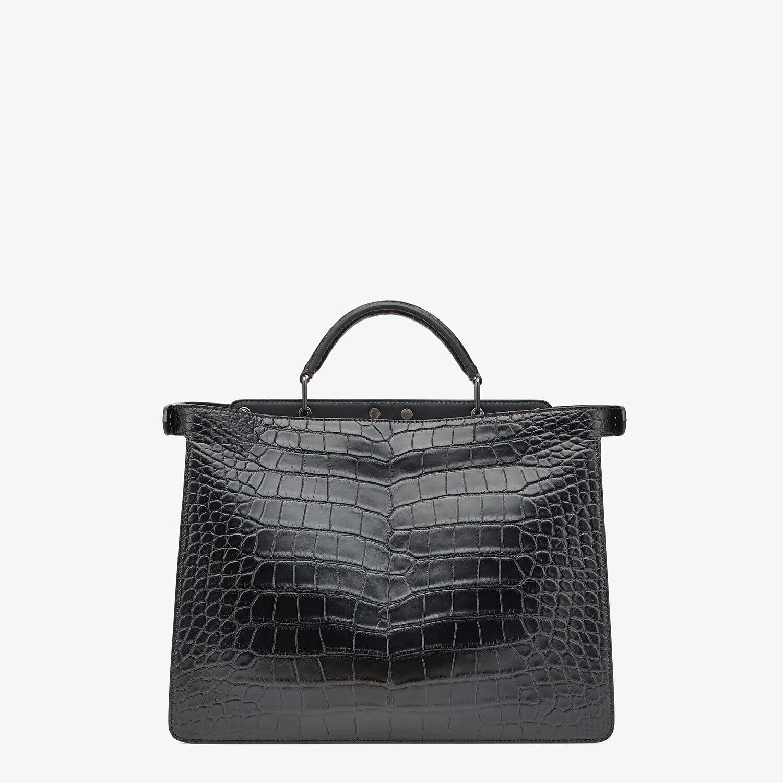 FENDI PEEKABOO ISEEU MEDIUM - Black alligator bag - view 4 detail