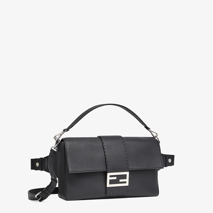 FENDI BAGUETTE LARGE - Black, calf leather bag - view 2 detail