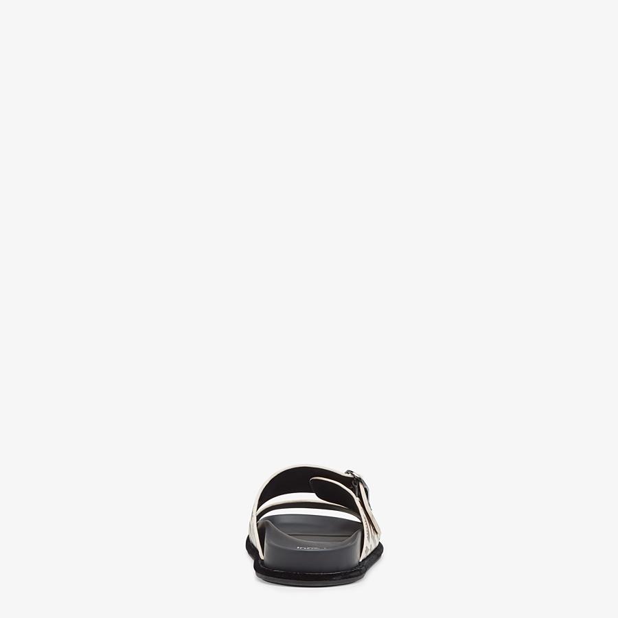 FENDI SLIDES - White leather slides - view 3 detail
