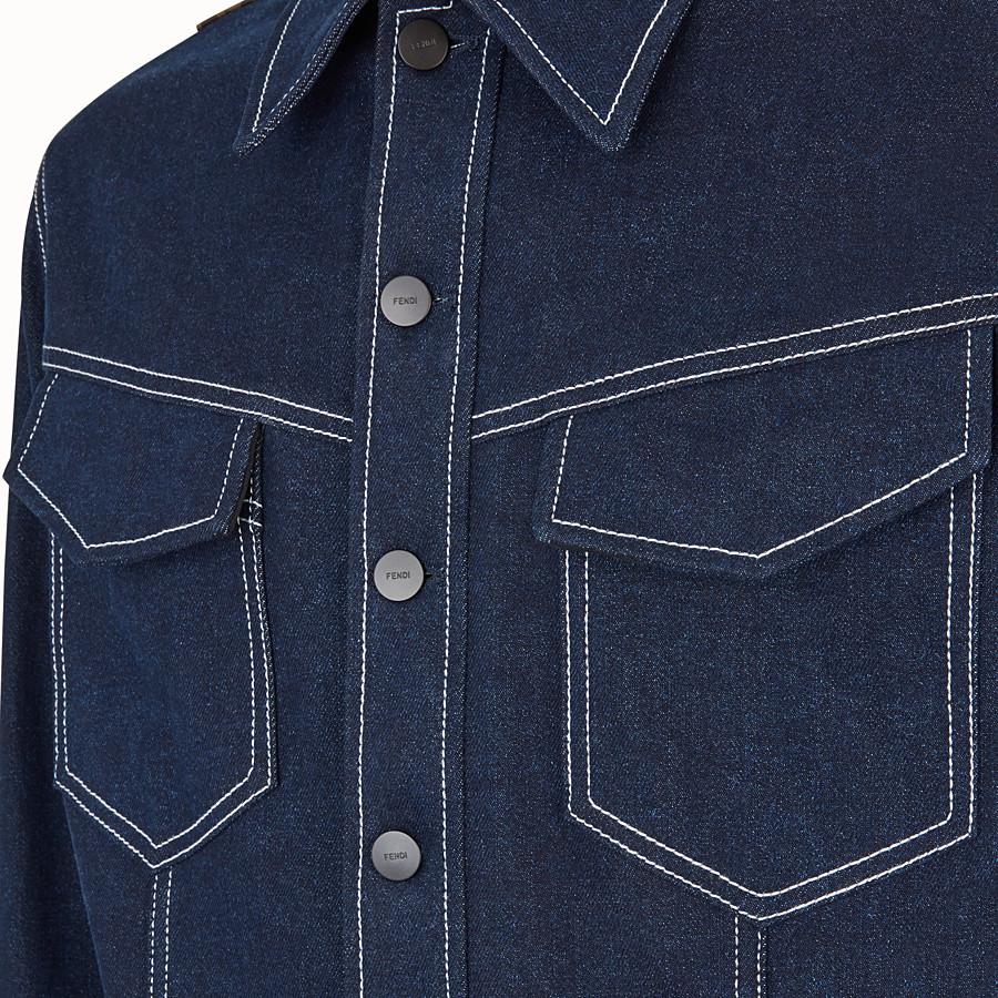FENDI BLOUSON JACKET - Blue denim jacket - view 3 detail