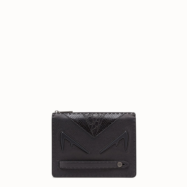 FENDI CLUTCH - Black Romano leather pochette - view 1 small thumbnail