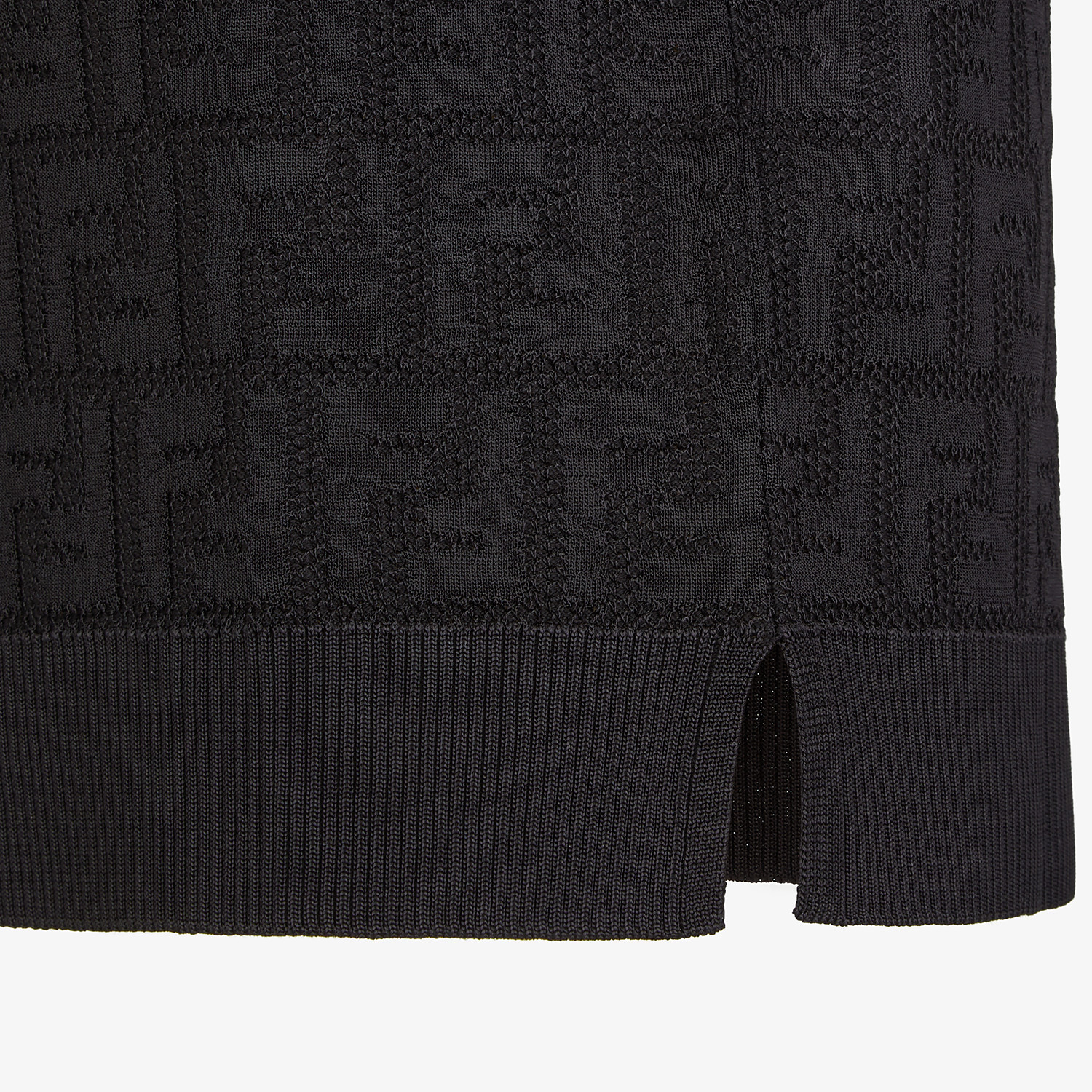 FENDI SWEATER - Black cotton and viscose sweater - view 3 detail