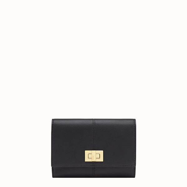 FENDI WALLET - Black leather cardholder - view 1 small thumbnail