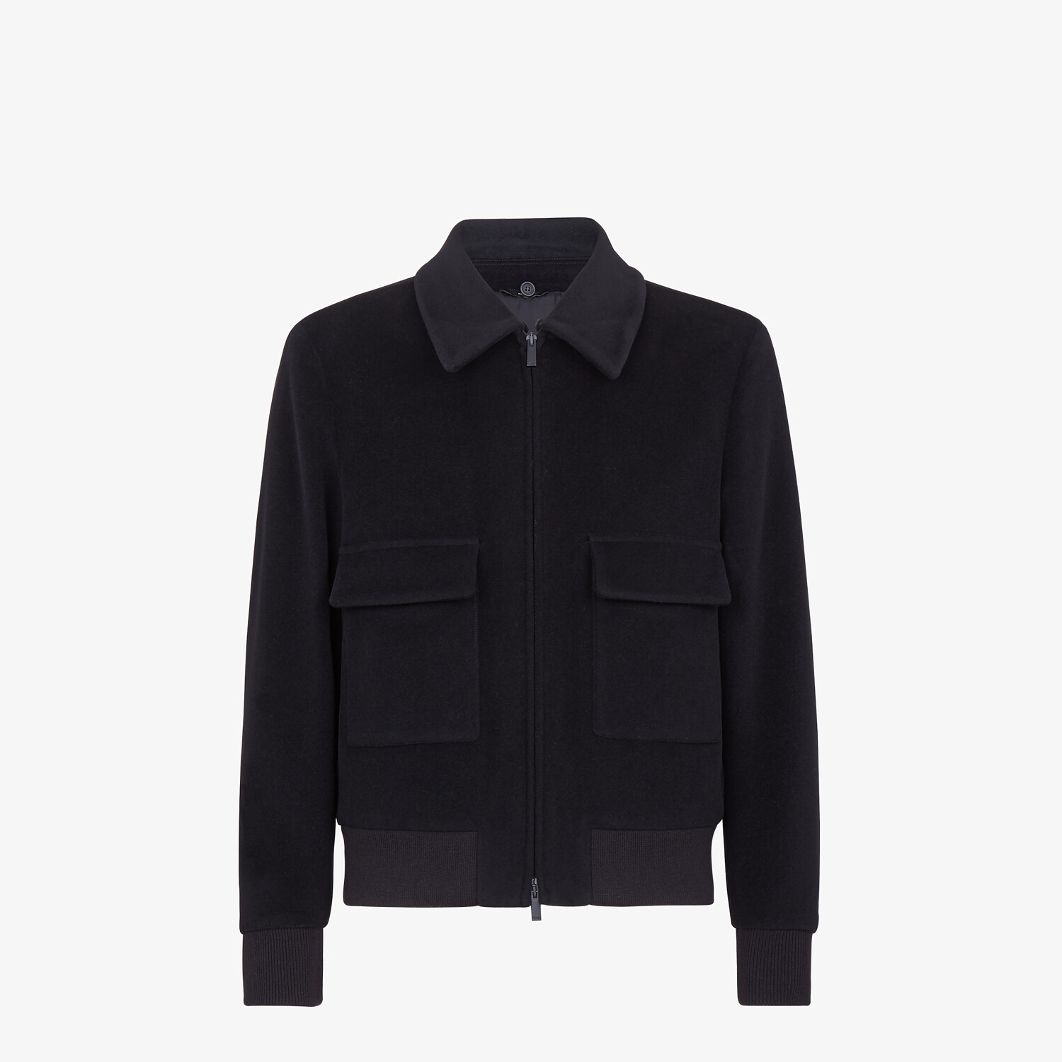FENDI JACKET - Black wool jacket - view 4 detail
