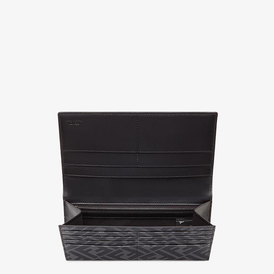 FENDI CONTINENTAL - Gray fabric wallet - view 3 detail