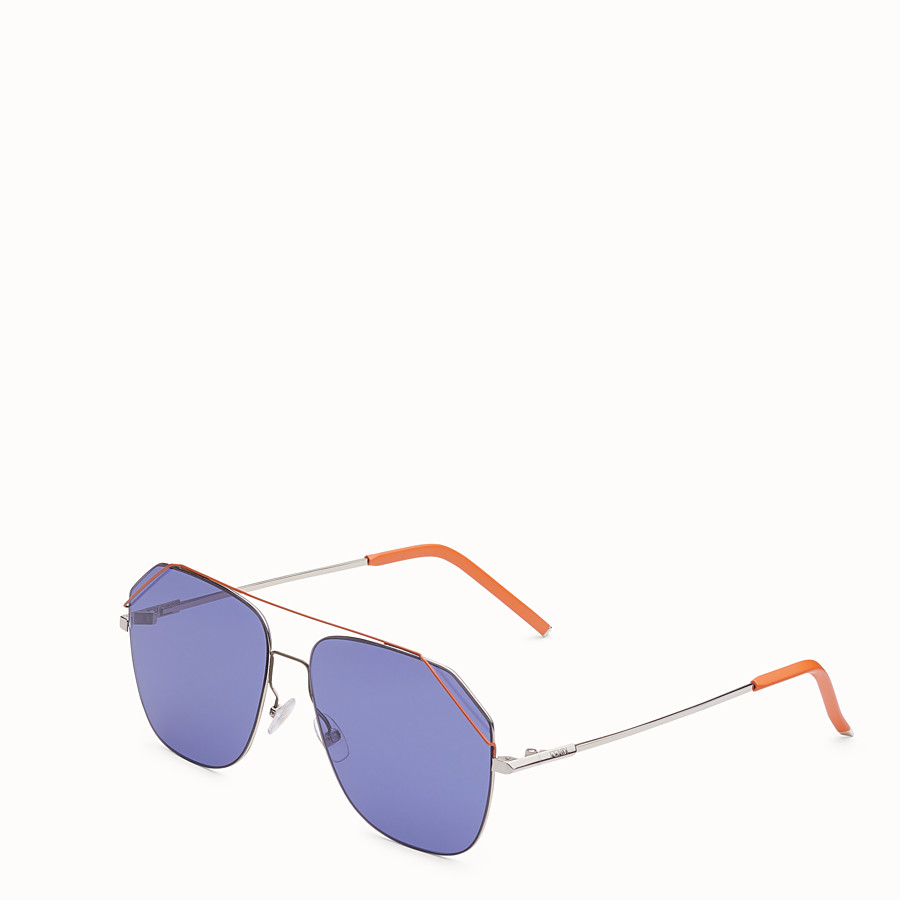 FENDI FENDIFIEND - Light gold and orange sunglasses - view 2 detail