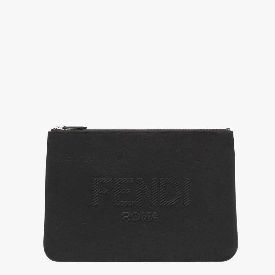 FENDI POUCH - Black canvas pouch - view 1 detail