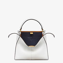 FENDI PEEKABOO X-LITE MEDIUM - Tasche aus Leder in Weiß - view 1 thumbnail
