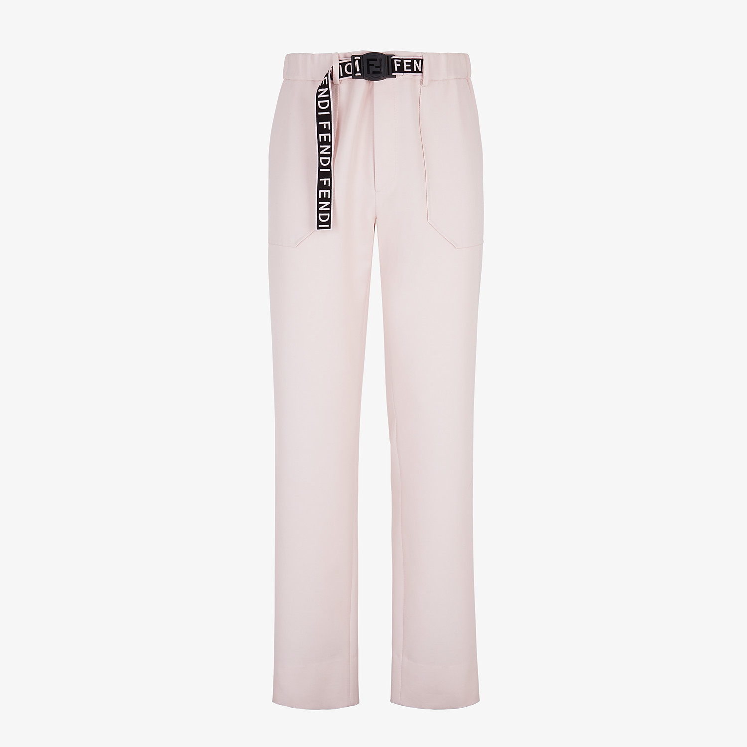 FENDI TROUSERS - Pink wool trousers - view 1 detail