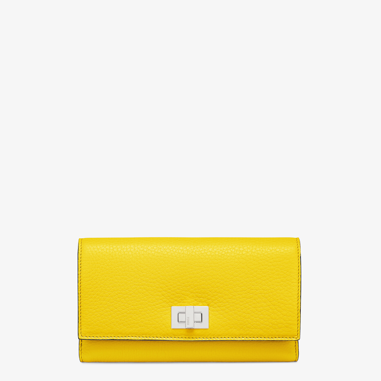 FENDI 三つ折り財布 - イエローレザー 財布 - view 1 detail