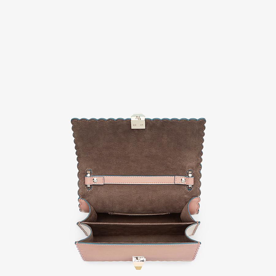 FENDI KAN I SMALL - Pink leather mini-bag - view 4 detail